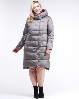 Фабрика производитель MTFORCE предлагает купить оптом женскую зимнюю молодежную куртку с капюшоном серого цвета по выгодной и доступной цене с доставкой в городе *город*, а так же по всей России и СНГ. Артикул товара 191923_30Sr