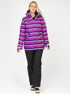 Горнолыжный костюм женский зимний темно-фиолетового цвета купить оптом в интернет магазине MTFORCE 01937TF