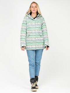 Купить оптом женскую зимнюю горнолыжную куртку салатового цвета в интернет магазине MTFORCE 1937Sl