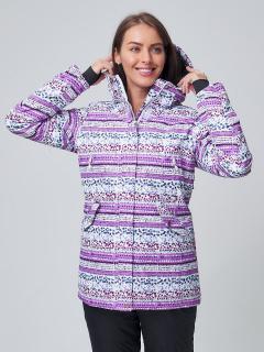 Купить оптом женскую зимнюю горнолыжную куртку фиолетового цвета в интернет магазине MTFORCE 1937F