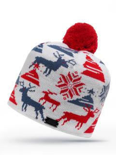 Купить оптом шапку красного цвета в интернет магазине MTFORCE 6033Kr