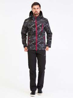 Спортивный костюм мужской осенний весенний softshell темно-серого цвета купить оптом в интернет магазине MTFORCE 01941-1TС