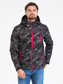 Купить оптом мужскую осеннюю весеннюю ветровку темно-серого цвета в интернет магазине MTFORCE 1941-1TC