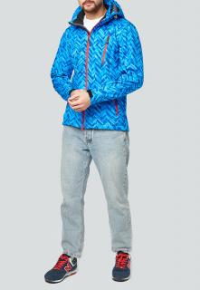 Купить оптом мужскую осеннюю весеннюю ветровку синего цвета в интернет магазине MTFORCE 1941S