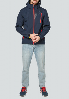 Купить оптом мужскую осеннюю весеннюю ветровку темно-синего цвета в интернет магазине MTFORCE 1942TS