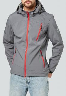 Купить оптом мужскую осеннюю весеннюю ветровку серого цвета в интернет магазине MTFORCE 1942Sr