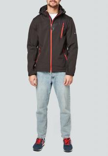 Купить оптом мужскую осеннюю весеннюю ветровку черного цвета в интернет магазине MTFORCE 1942Ch