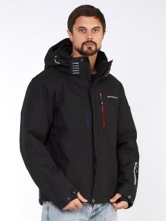 Купить оптом мужскую зимнюю горнолыжную куртку черного цвета в интернет магазине MTFORCE 1947Сh