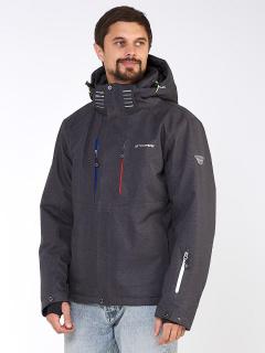 Купить оптом мужскую зимнюю горнолыжную куртку темно-серого цвета в интернет магазине MTFORCE 1947TC
