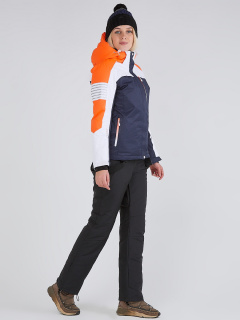 Горнолыжный костюм женский зимний темно-синего цвета купить оптом в интернет магазине MTFORCE 019601TS