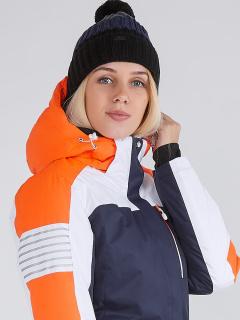 Купить оптом женскую зимнюю горнолыжную куртку темно-синего цвета в интернет магазине MTFORCE 19601TS