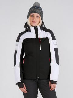 Купить оптом женскую зимнюю горнолыжную куртку черного цвета в интернет магазине MTFORCE 19601Ch