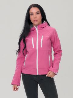 Купить оптом женскую осеннюю весеннюю ветровку розового цвета в интернет магазине MTFORCE 1760R