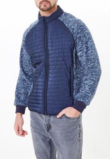 Купить оптом мужскую осеннюю весеннюю молодежную куртку стеганную темно-синего цвета в интернет магазине MTFORCE 1961TS