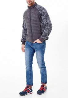 Купить оптом мужскую осеннюю весеннюю молодежную куртку стеганную темно-серого цвета в интернет магазине MTFORCE 1961TC