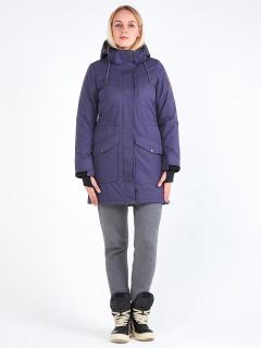 Купить оптом женскую зимнюю парку темно-фиолетового цвета в интернет магазине MTFORCE 19621TF