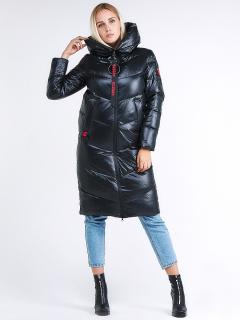 Купить оптом женскую зимнюю молодежную куртку с капюшоном темно-зеленного цвета в интернет магазине MTFORCE 1969_03TZ