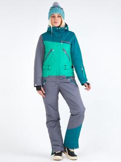 Комбинезон женский зимний зеленого цвета купить оптом в интернет магазине MTFORCE 19691Z