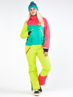 Комбинезон женский зимний малинового цвета купить оптом в интернет магазине MTFORCE 19691M