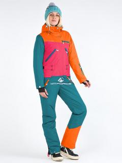 Комбинезон женский зимний оранжевого цвета купить оптом в интернет магазине MTFORCE 19691O