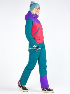 Комбинезон женский зимний бирюзового цвета купить оптом в интернет магазине MTFORCE 19691Br