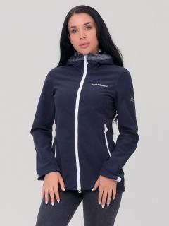 Купить оптом женскую осеннюю весеннюю ветровку темно-синего цвета в интернет магазине MTFORCE 1769TS