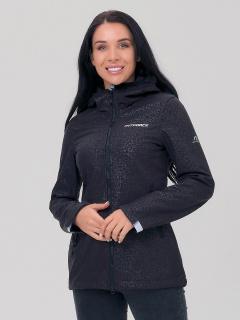 Купить оптом женскую осеннюю весеннюю ветровку черного цвета в интернет магазине MTFORCE 1769Ch