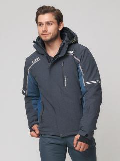 Купить оптом мужскую зимнюю горнолыжную куртку темно-серого цвета в интернет магазине MTFORCE 1971TC