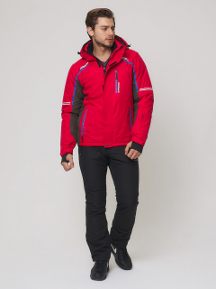 Мужской зимний костюм горнолыжный красного цвета купить оптом в интернет магазине MTFORCE 01971Kr