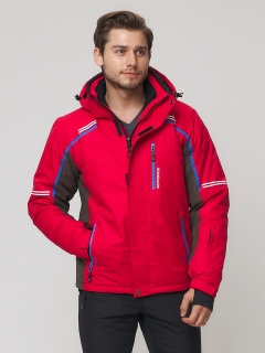 Купить оптом мужскую зимнюю горнолыжную куртку красного цвета в интернет магазине MTFORCE 1971Kr