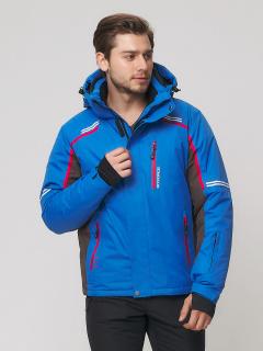 Купить оптом мужскую зимнюю горнолыжную куртку голубого цвета в интернет магазине MTFORCE 1971Gl