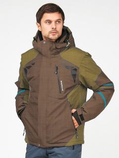 Купить оптом мужскую зимнюю горнолыжную куртку цвета хаки в интернет магазине MTFORCE 1972-1Kh
