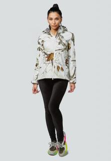 Купить оптом женскую осеннюю весеннюю ветровку softshell белого цвета в интернет магазине MTFORCE 1977Bl