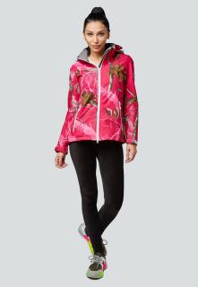 Купить оптом женскую осеннюю весеннюю ветровку softshell розового цвета в интернет магазине MTFORCE 1977R