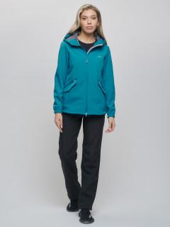 Спортивный костюм женский демисезонная softshell бирюзового цвета купить оптом в интернет магазине MTFORCE 020014O
