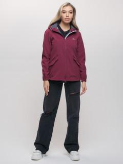 Компания производителя MTFORCE предлагает купить оптом спортивные ветровки женские бордового цветам весна-лето по самым низкие цены у нас! артикул 20014Bo