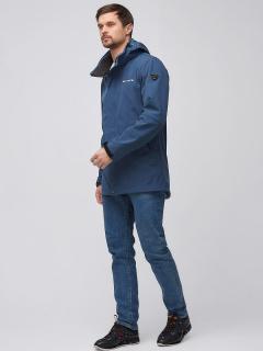 Купить оптом мужскую осеннюю весеннюю парку softshell синего цвета в интернет магазине MTFORCE 2010S