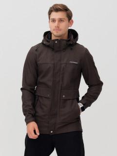 Купить оптом мужскую осеннюю весеннюю парку softshell темно-серого цвета в интернет магазине MTFORCE 2017TC