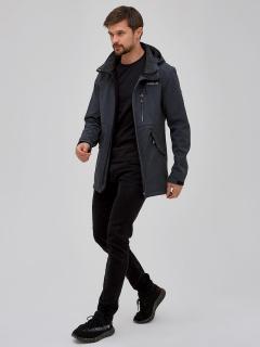 Купить оптом мужскую осеннюю весеннюю парку softshell серого цвета в интернет магазине MTFORCE 2018Sr