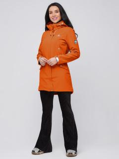 Купить оптом женскую осеннюю весеннюю парку softshell оранжевого цвета в интернет магазине MTFORCE 2026O