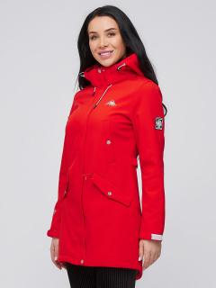 Купить оптом женскую осеннюю весеннюю парку softshell красного цвета в интернет магазине MTFORCE 2026Kr