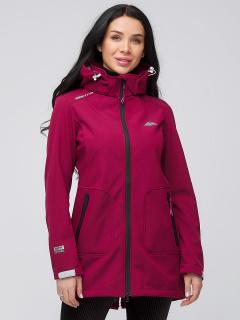Купить оптом женскую осеннюю весеннюю парку softshell бордового цвета в интернет магазине MTFORCE 2028Bo