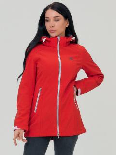 Купить оптом женскую осеннюю весеннюю парку softshell красного цвета в интернет магазине MTFORCE 2029Kr
