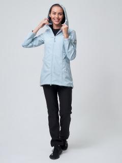 Женский осенний весенний костюм спортивный softshell голубого цвета купить оптом в интернет магазине MTFORCE 02037Gl