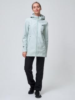 Женский осенний весенний костюм спортивный softshell бирюзового цвета купить оптом в интернет магазине MTFORCE 02037Br