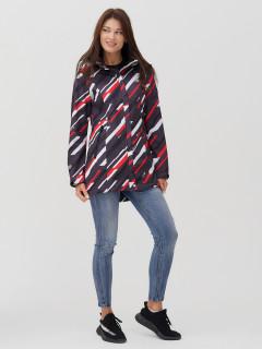 Купить оптом женскую осеннюю весеннюю парку softshell красного цвета в интернет магазине MTFORCE 2037-1Kr