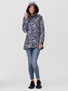 Купить оптом женскую осеннюю весеннюю парку softshell серого цвета в интернет магазине MTFORCE 2037-1Sr