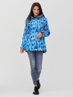 Купить оптом женскую осеннюю весеннюю парку softshell синего цвета в интернет магазине MTFORCE 2037-1S