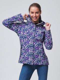 Купить оптом женскую осеннюю весеннюю ветровку softshell синего цвета в интернет магазине MTFORCE 2038S