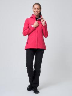 Женский осенний весенний костюм спортивный softshell розового цвета купить оптом в интернет магазине MTFORCE 02038R